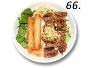 66- Vermicelli Grilled Pork & Spring Rolls