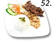 52- Jasmine Rice with Grilled Beef & Chicken